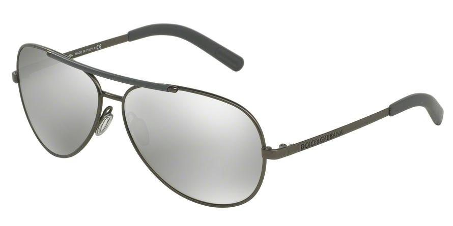 0dc1b9faf9a5 Dolce Gabbana LIFESTYLE DG2141 Sunglasses DG2141-12216G-61 Frame Color   Matte Gunmetal
