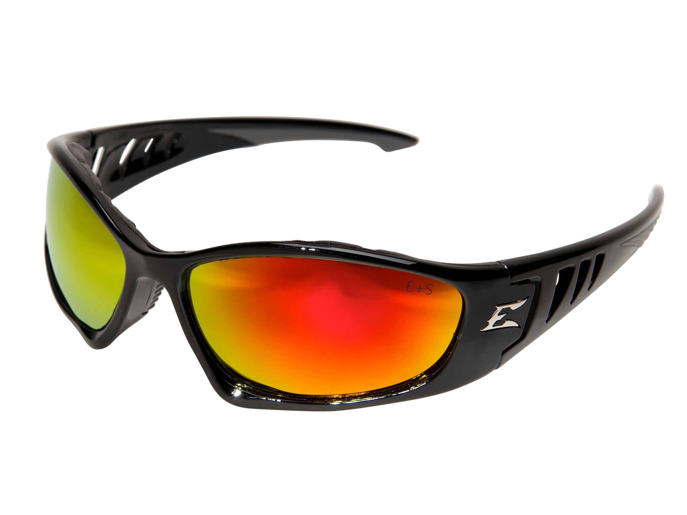 Edge® Safety Eyewear Baretti Sunglass Aqua Precision Red Mirror Lens GSBAP119