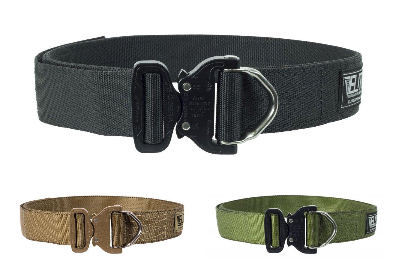 Elite Survival Systems ELSCRB-M-XL Cobra Rigger/'s with D Ring Buckle Belt,