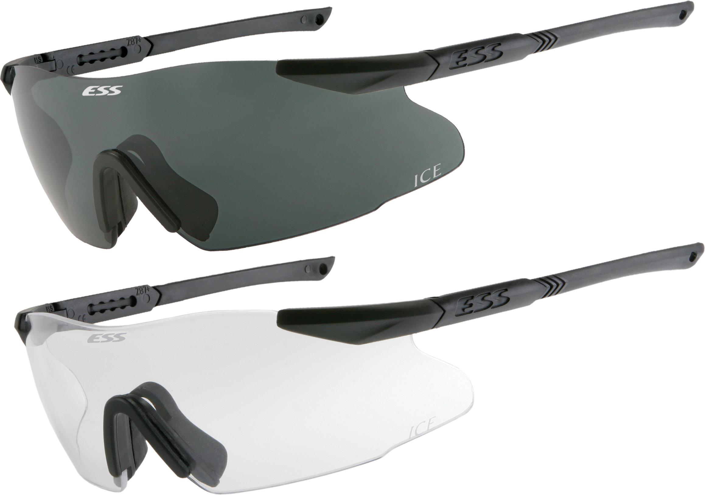USGI Military ESS Ice Naro Ballistic Shooting Safety Glasses w// Dark Lens MINT