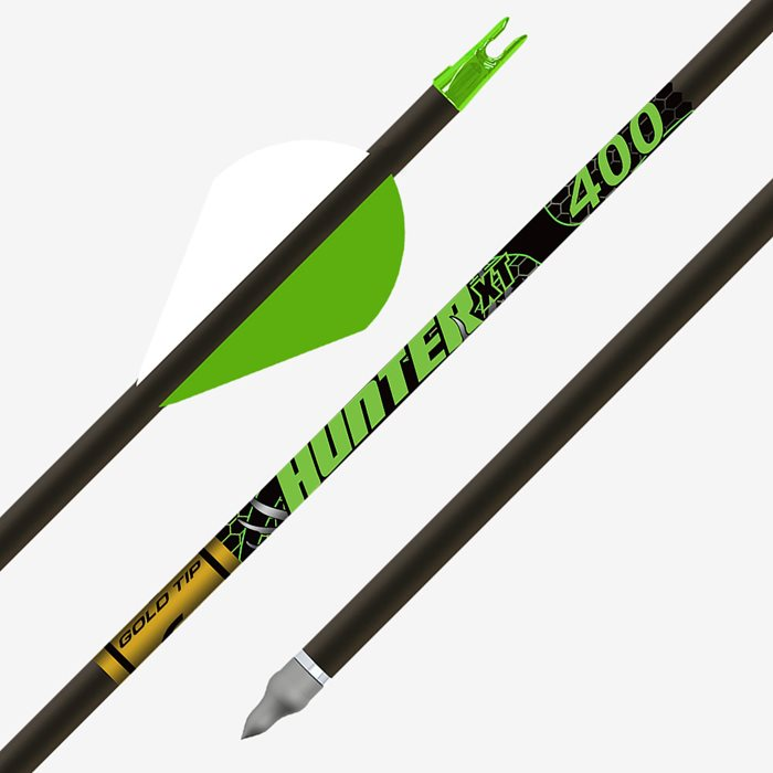 Feathers 6 pk. Gold Tip Traditional Arrows 400 4 in