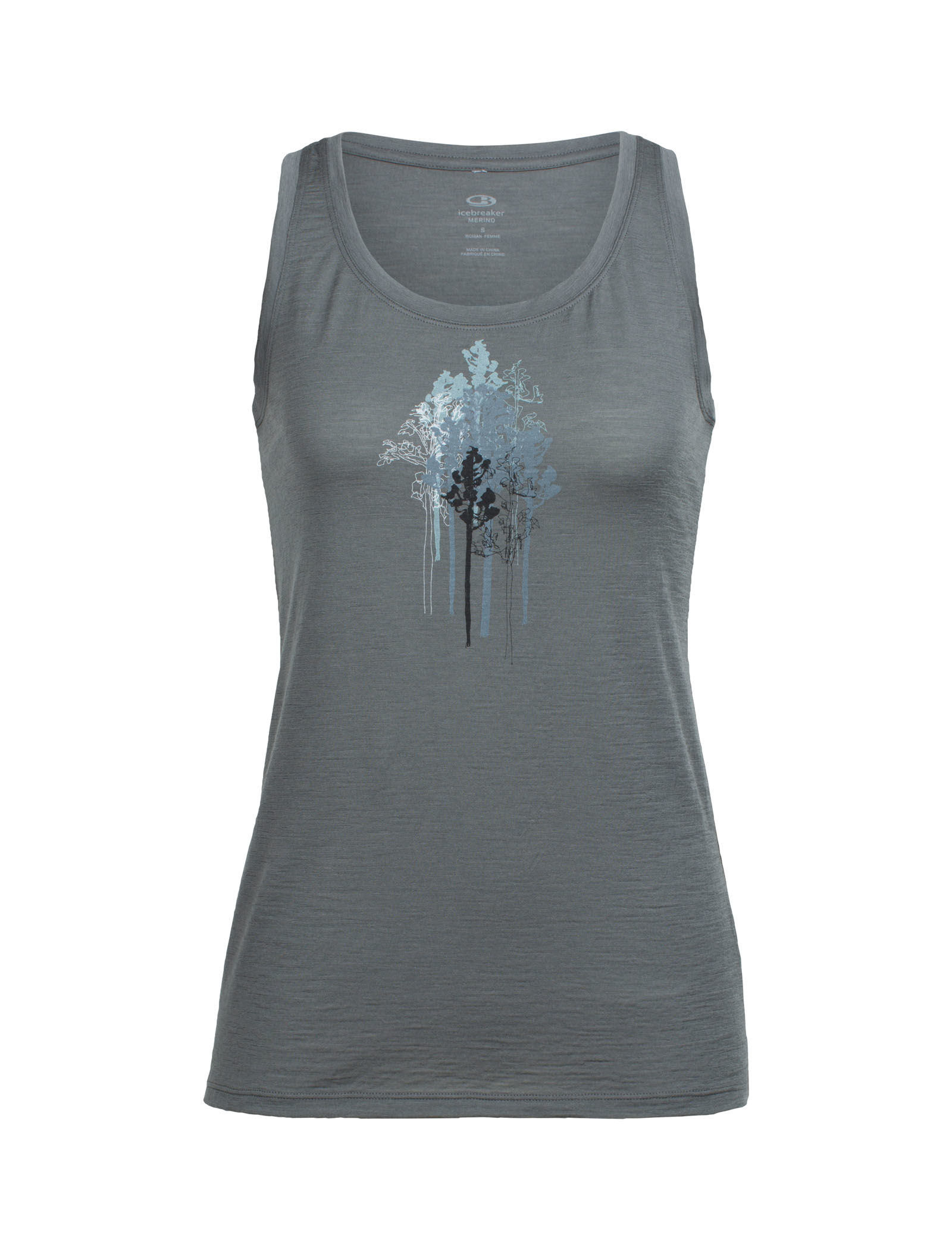 0f2104e0e8c Icebreaker Tech Lite Tank Through the Trees   Up to 48% Off Free Shipping  over $49!