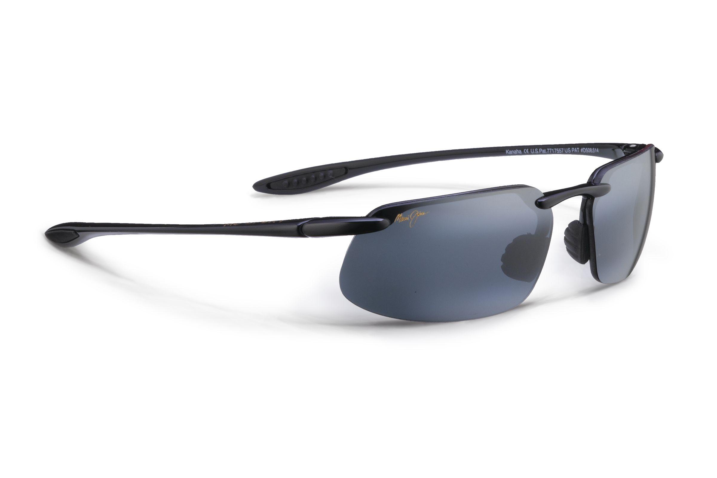 Universal Fit Neutral Grey Lenses with Patented PolarizedPlus2 Lens Technology 2 G807N-0220 Maui Jim Hookipa Reader Polarized Gloss Black Rimless Frame Sunglasses