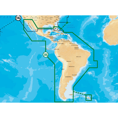 Navionics Navionics+ Caribbean & S  Amer , CF Card
