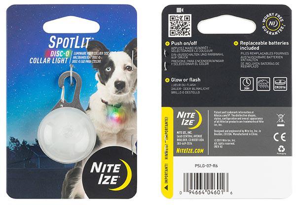 Nite Ize SpotLit LED Carabiner Light Orange w//White LED Mini Keychain Pet Beacon