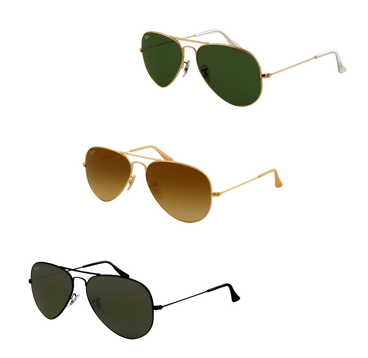 2076c76e4f Ray-Ban RB3025 Aviator Large Metal Sunglasses - 86 Models