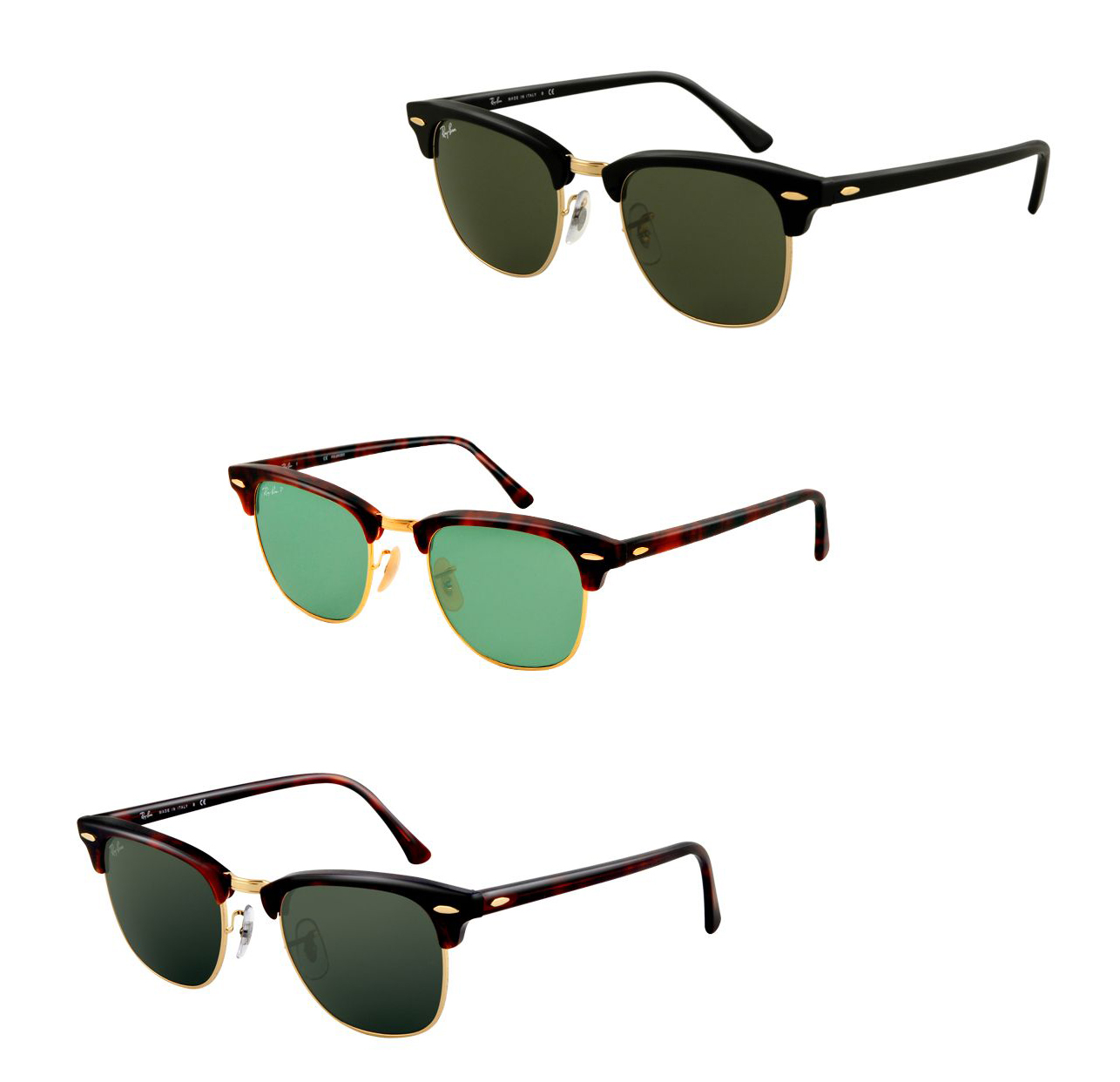 Ray-Ban Clubmaster Sunglasses RB3016   4.4 Star Rating w  Free Shipping and  Handling 104ba1d70a9f