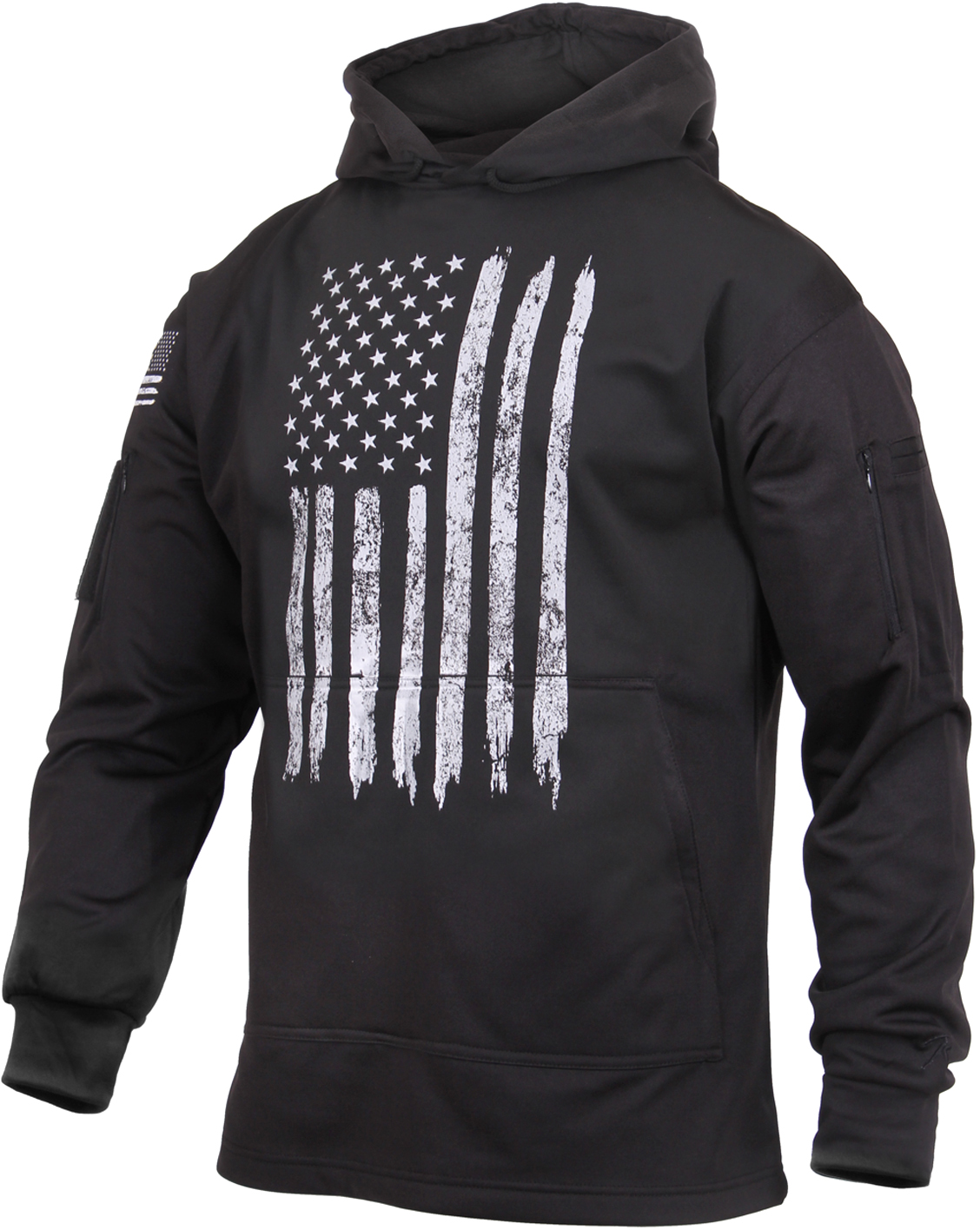 Rothco Distressed US Flag Concealed Carry Hooded Sweatshirt - Men's