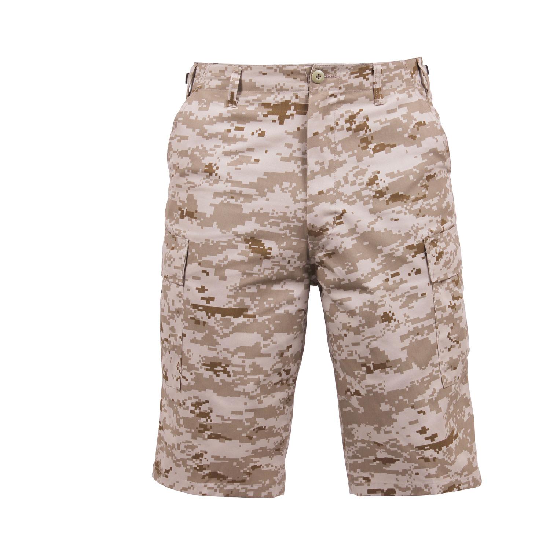 Men/'s Woodland Digital Camouflage Long-Length BDU Cargo Shorts 3XL S
