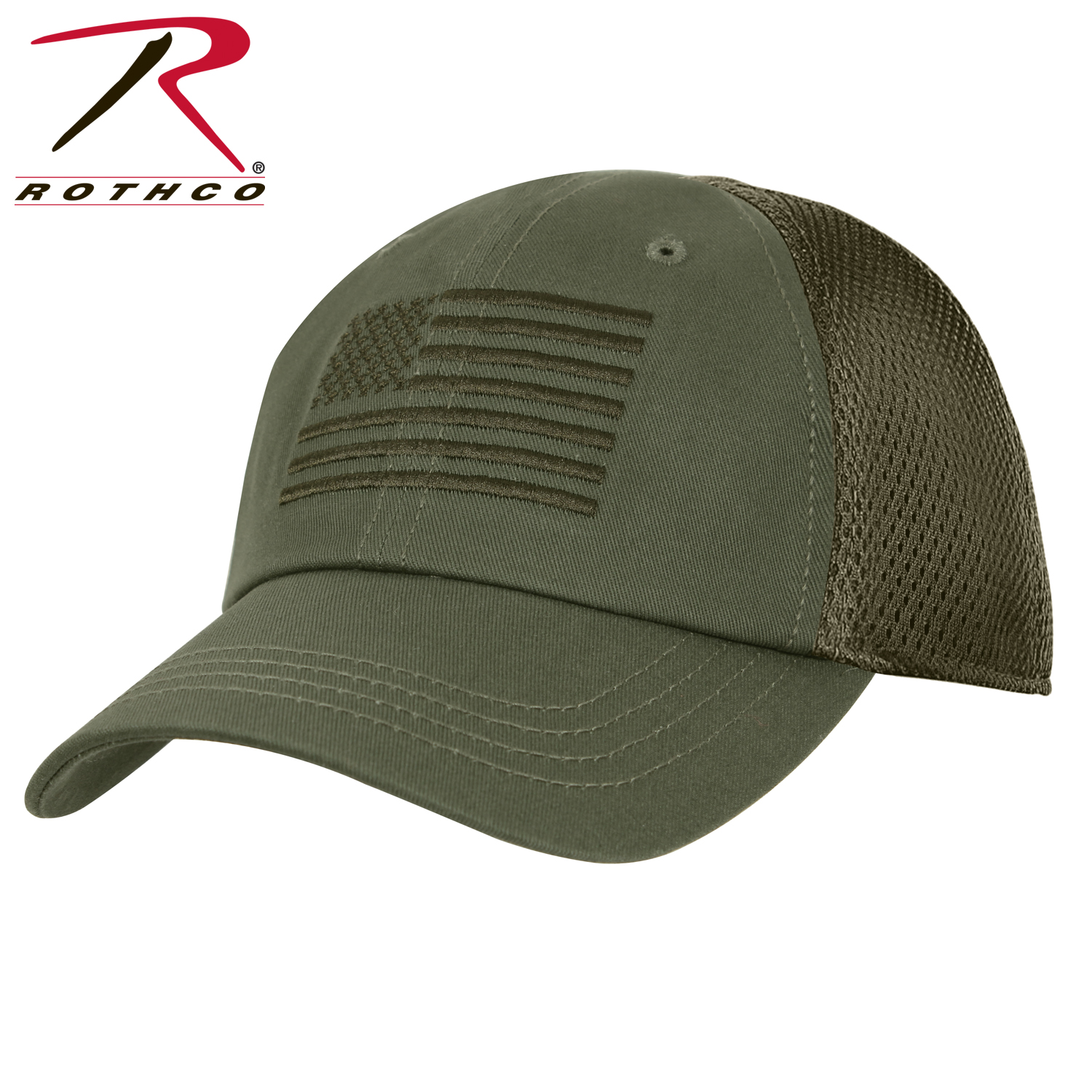 Rothco Multicam Tactical Mesh Back Cap With Embroidered US Flag  a5e4c3c92d9