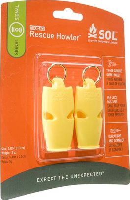 Slim Rescue Howler Whistle Adventure Medical Kits SOLSIGNAL3 LO-LWIE-ANE8