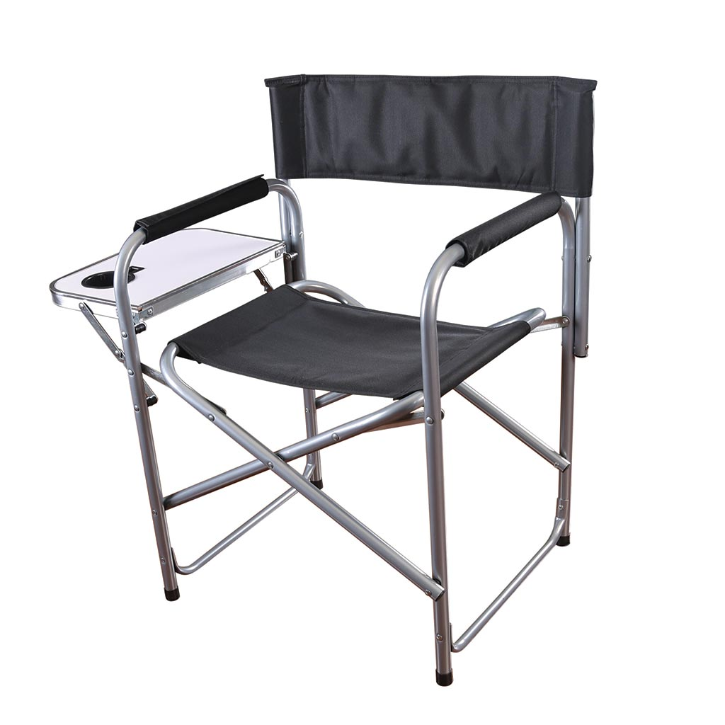 Folding Directors Chair With Side Table.Stansport Folding Directors Chair W Side Table