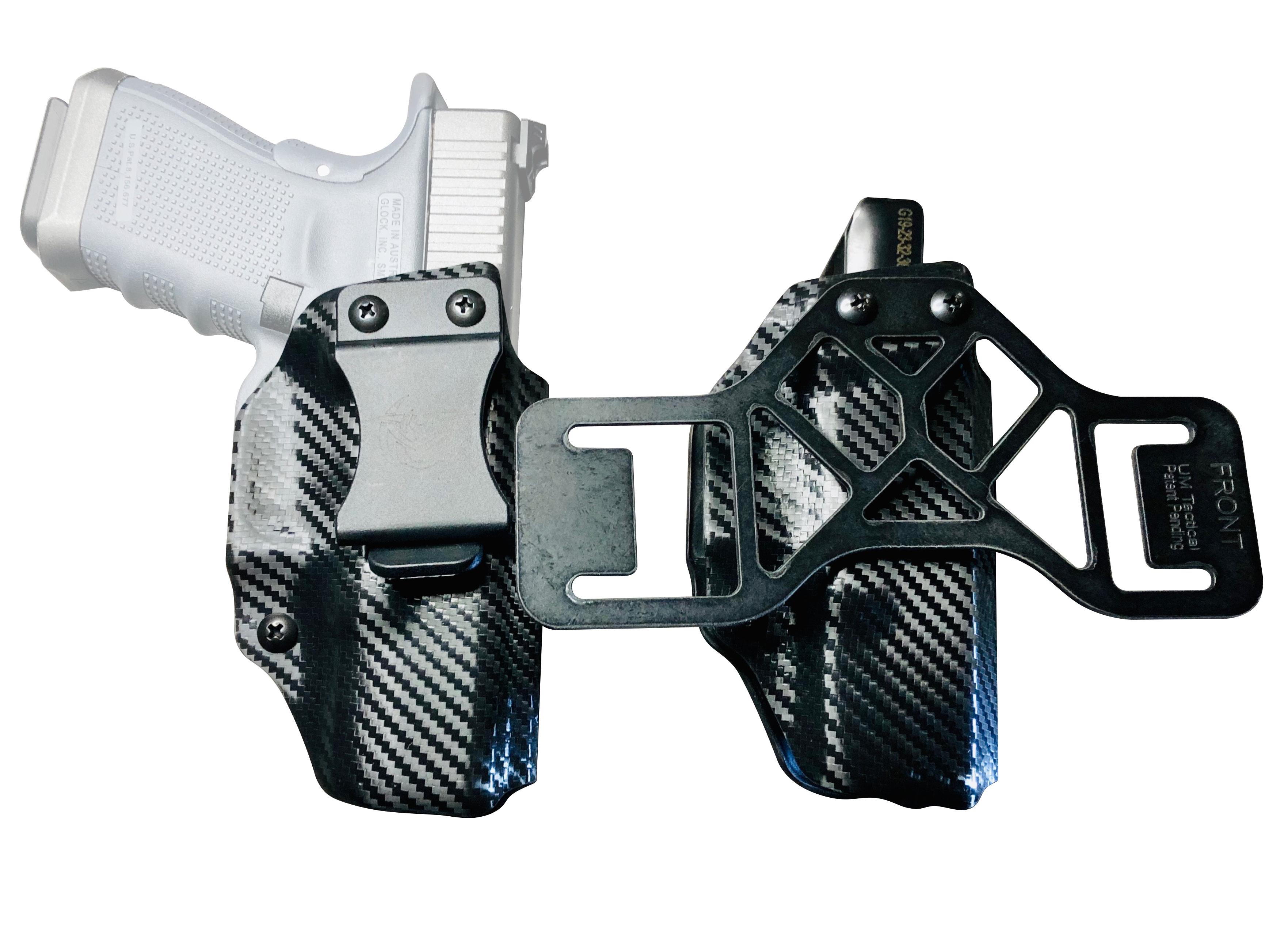 BLACK CARBON FIBER OWB Kydex Light Bearing Holster for TLR-4-50 Gun Models