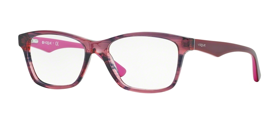 Vogue VO2787 Eyeglass Frames 2584-53 Top Dark Red//red Transp VO2787-2584-53
