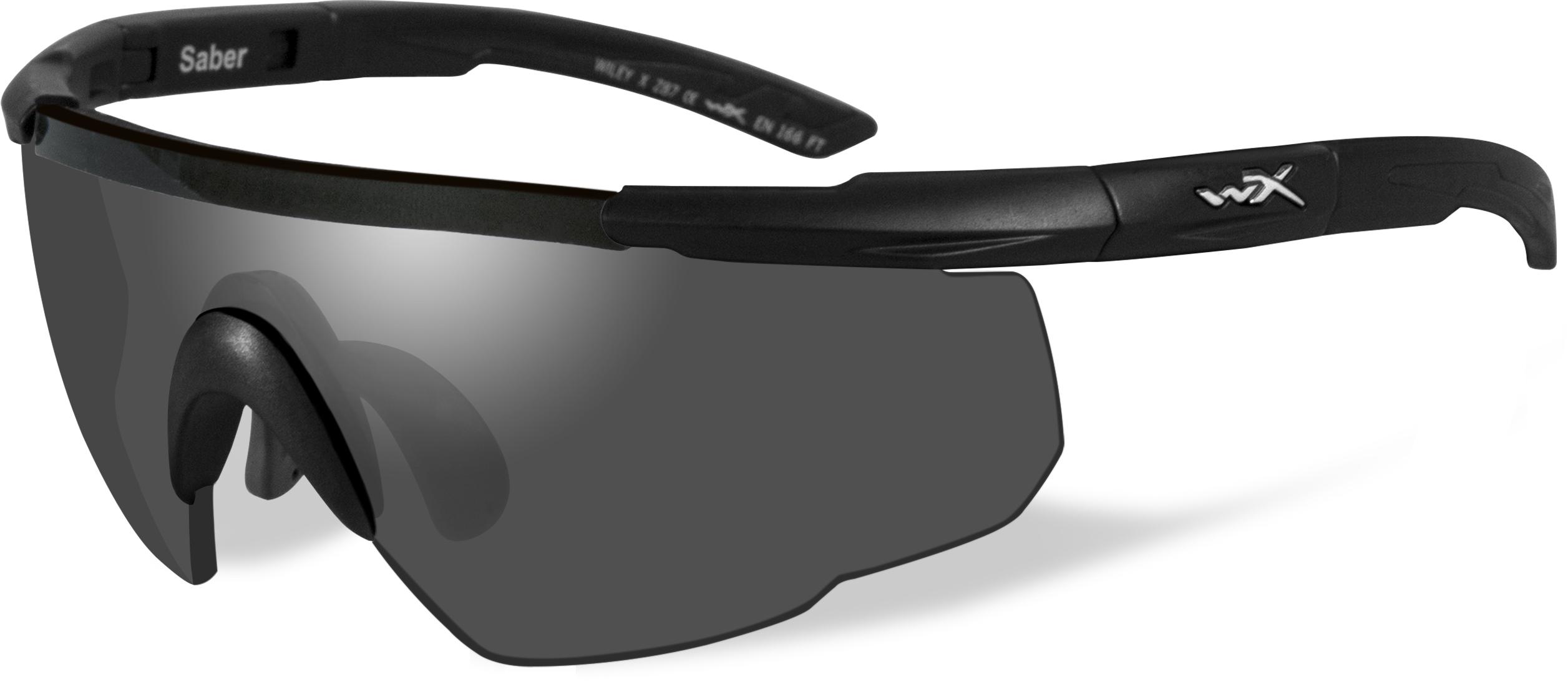 cbb9768ef1 Wiley X Saber Advanced Sunglasses 2-Lens Package - Matte Black w  Gray
