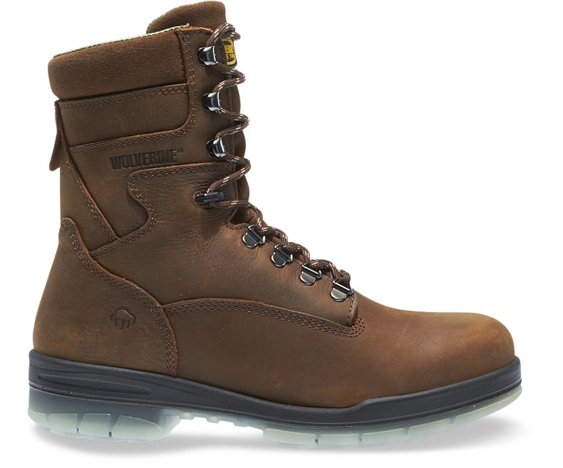 4a765778dad Wolverine I-90 DuraShocks Waterproof Insulated Steel-Toe 8in Work Boot -  Men's