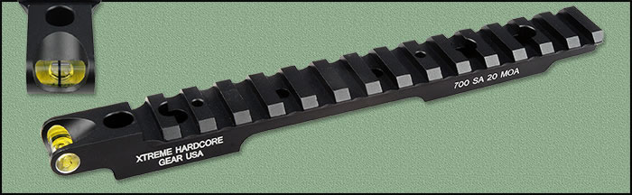 HC-91005 20 MOA Picatinny Rail Xtreme Hardcore Gear Savage Short Action